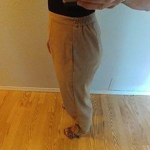 Vintage Pants - Vintage Sag Harbor High Waist Sueded Trouser Sz 12